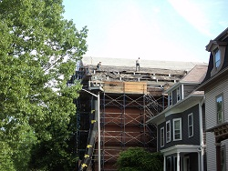 Removing Roof Slate, South Side
