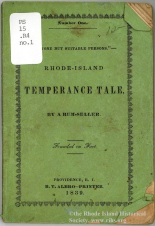 """None but Suitable Persons"": Rhode Island Temperance Tale, 1839"